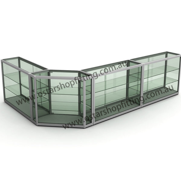 glass counter (L shape)