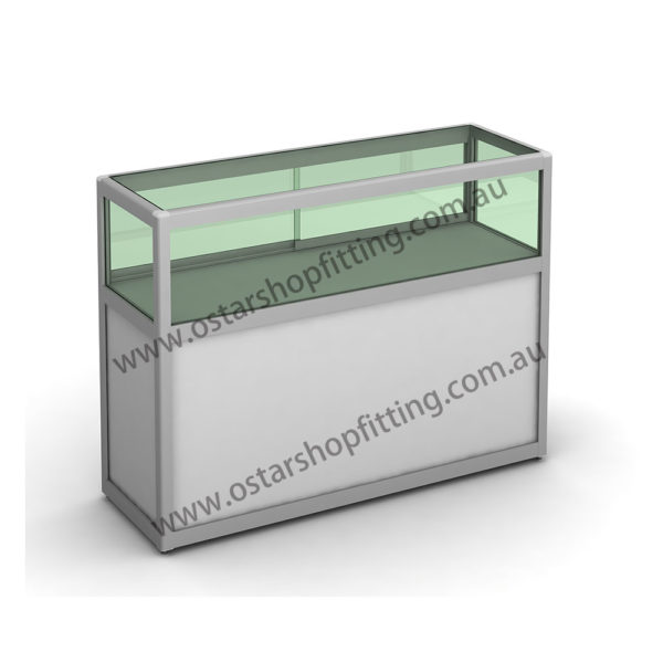 glass counter with high storage