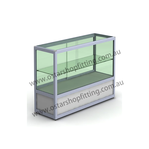 glass counter with storage