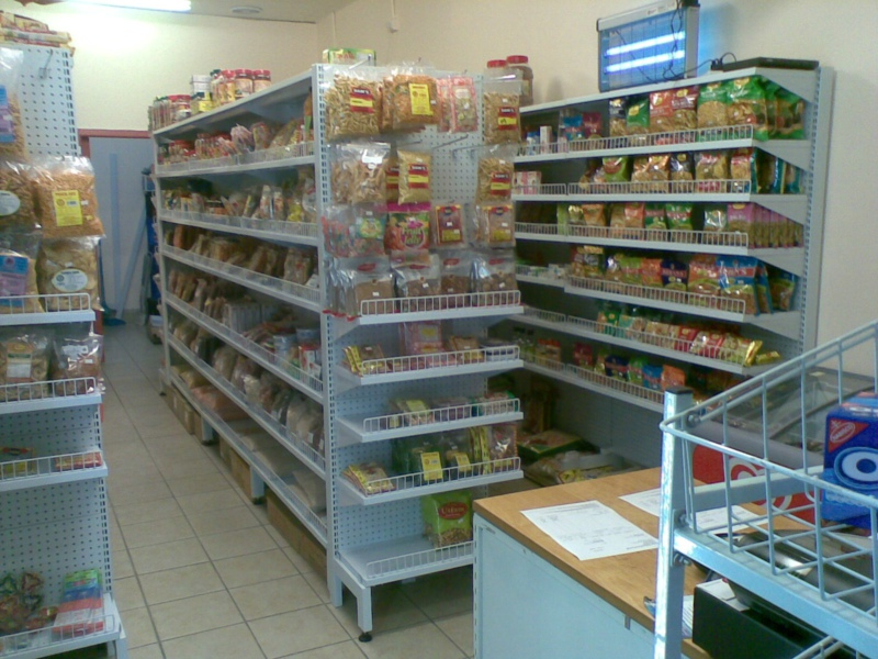 pegboard shelving for convenience store