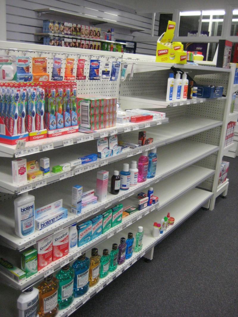 pegboard shelving for pharmacy