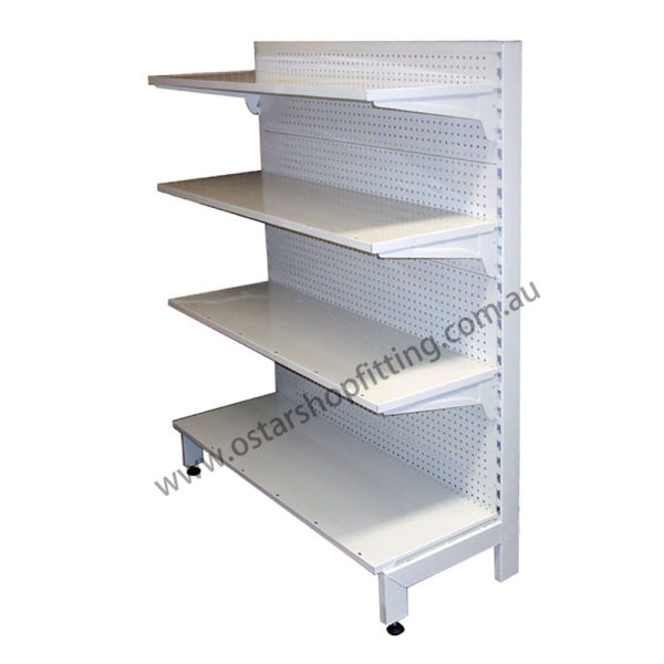 pegboard shelving single side