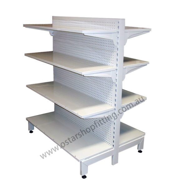 pharmacy shelving double side